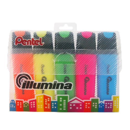 Pentel Illumina Highlighter 5 Colors/pack SL60-5