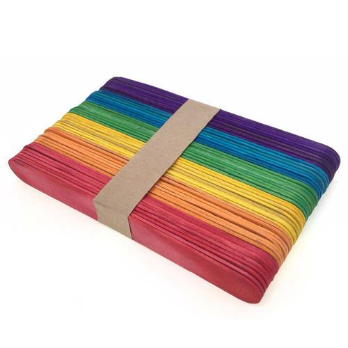 Jumbo Colourful Ice Cream Craft Sticks