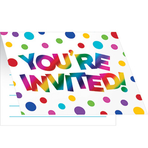 Rainbow Foil Foldover Invitations