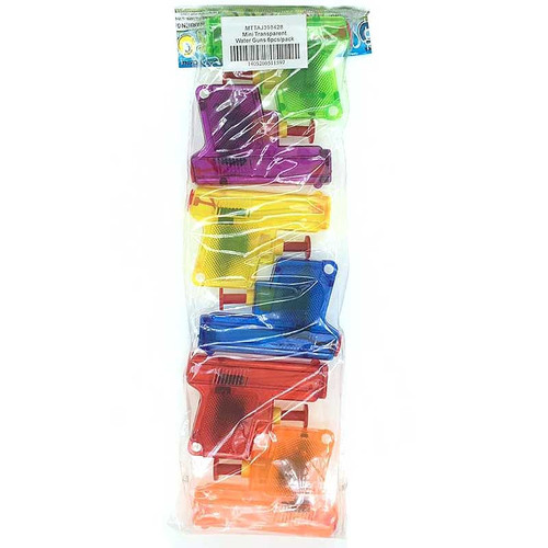 Mini Transparent Water Guns 6pcs/pack