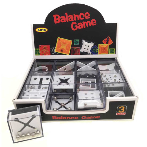 Mini Balance Puzzle Game Assortment 24pcs/box