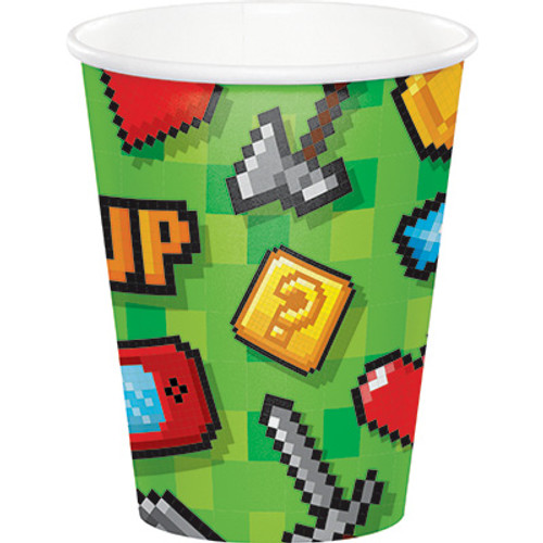 Gaming Party 9 oz Paper Cups