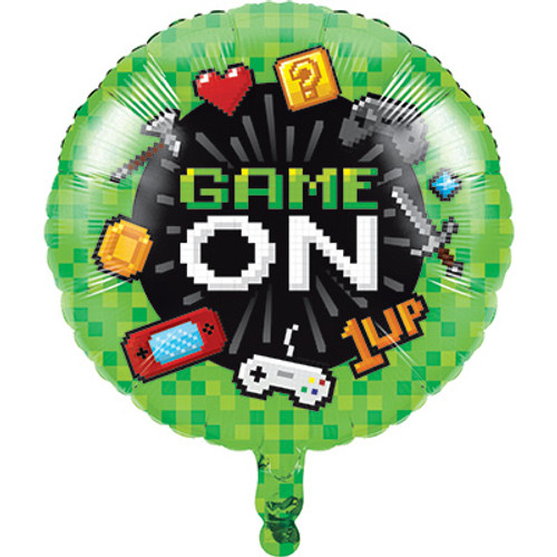 "18"" Gaming Party Foil Balloon"