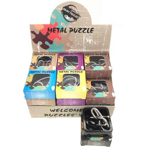 Metal Puzzles Brain Teasers 24pcs/box