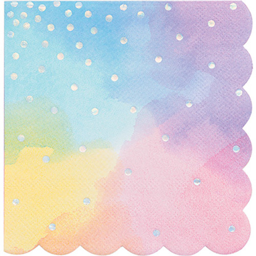 Iridescent 3-Ply Shaped Beverage Napkins