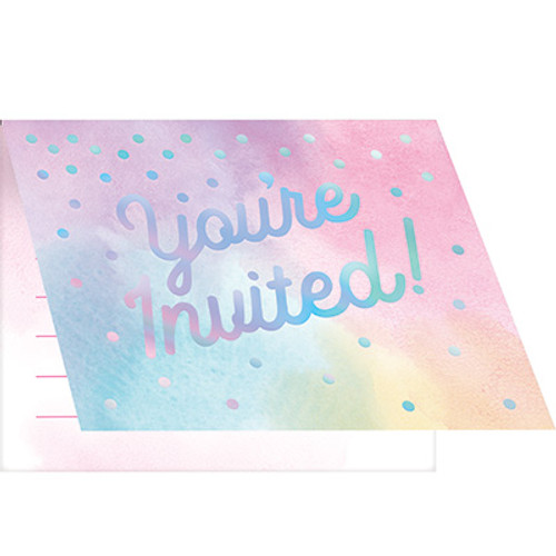 Iridescent Foldover Invitations