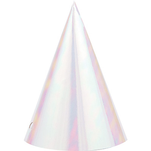 Iridescent Party Cone Hat