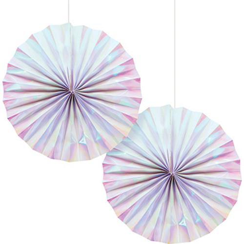 Iridescent Paper Fans