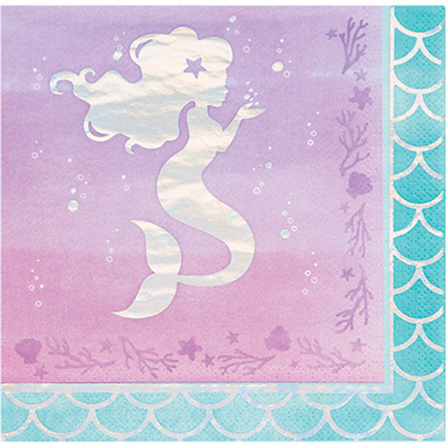 Mermaid Shine Iridescent 3-Ply Lunch Napkins