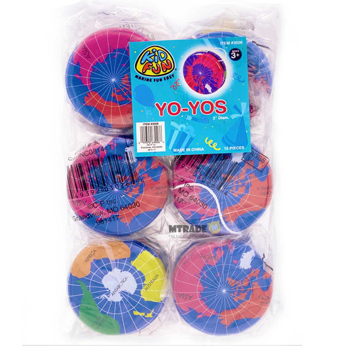 Globe Metal Yo Yo 12pcs/pack