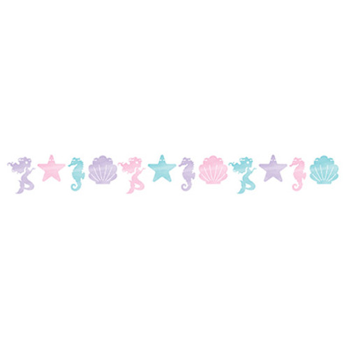 Mermaid Shine Iridescent Shaped Banner with Twine