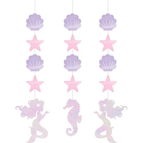 Mermaid Shine Iridescent Hanging Cutouts