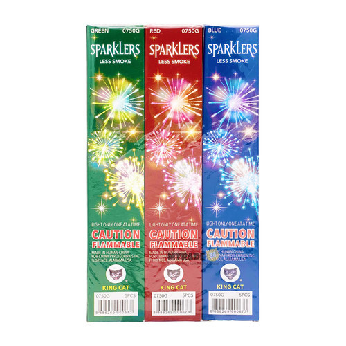 """10"""" Sparklers 6 box/pack"""