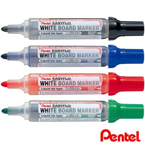 Pentel EASYFLO Refillable White Board Marker MW50M
