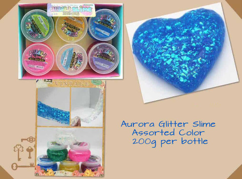 Aurora Glitter Slime Assorted Color 1 Bottle
