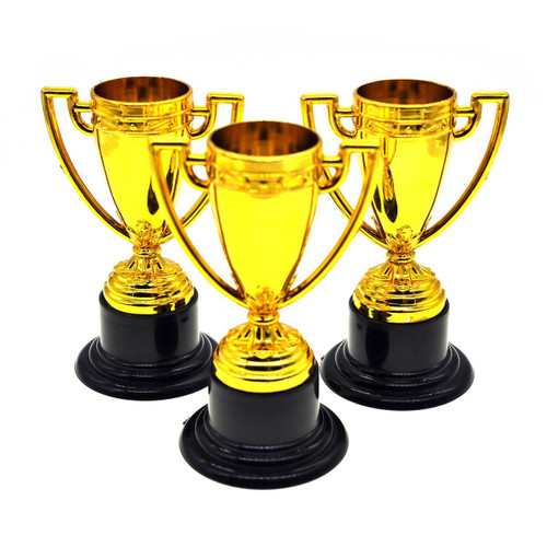 Mini Plastic Trophy Cup 3pcs/pack
