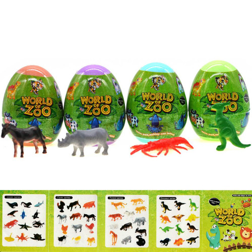 Capsule Egg Animal Toy Assortment 24pcs/box