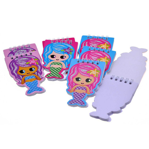 Glitter Mermaid Notepad 8pcs