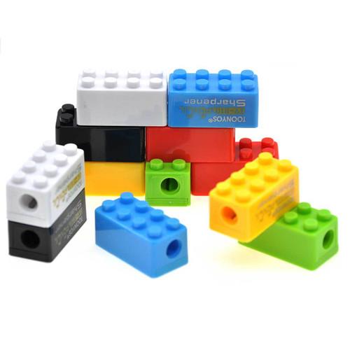 Brick Party Pencil Sharpener Assorted Color 12pcs/pack