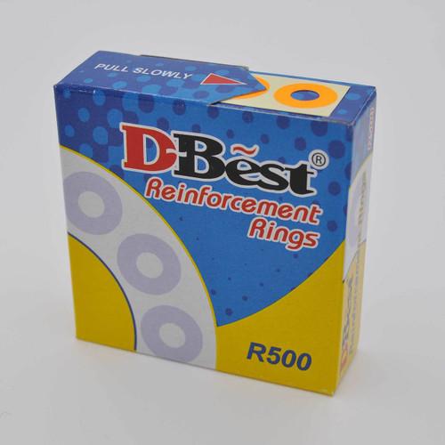 Reinforcement Ring Sticker Fluorescent Orange 500pcs/box