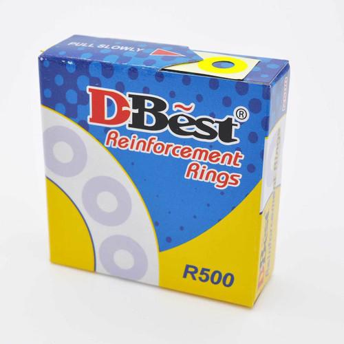 Reinforcement Ring Sticker Fluorescent Yellow 500pcs/box