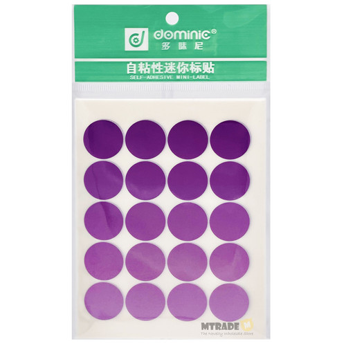 Self Adhesive Label Sticker 19mm Circle 10 sheets/pack