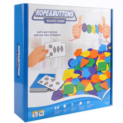 Rope and Buttons Board Game