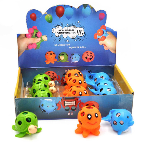 Sea Animal Mesh Squishy Ball 12pcs/box