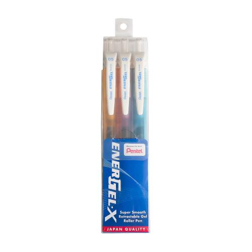 Pentel Energel-X Gel Roller Pen 0.5mm (3 Pen/Set BLN105-FPS)