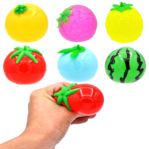 Fruit Squishy Ball Assortment 1pcs