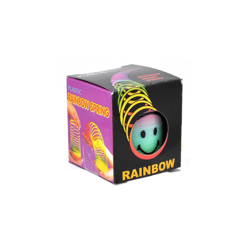 Mini Smile Face Rainbow Magic Spring Toy 1pcs/box
