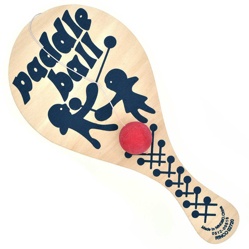 Wooden Retro Paddle Ball