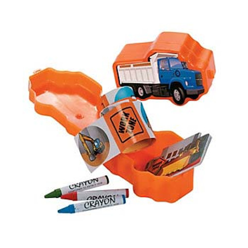 Construction Truck Filled Stationery Set