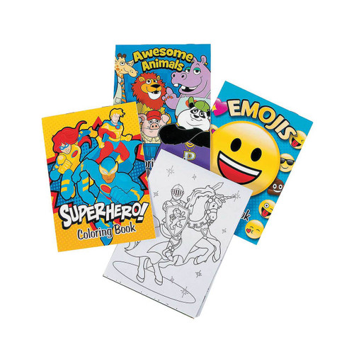 More Fun Coloring Books 12pcs/pack