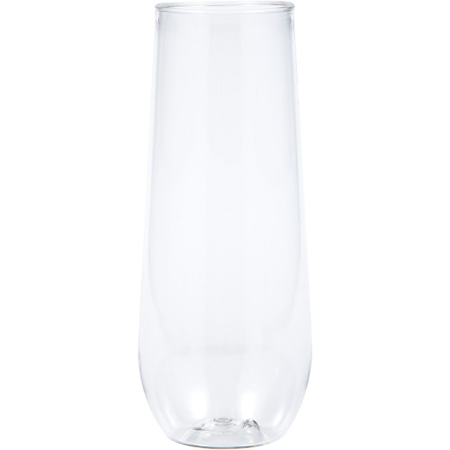 Clear 9 oz Premium Plastic Stemless Champagne Flute
