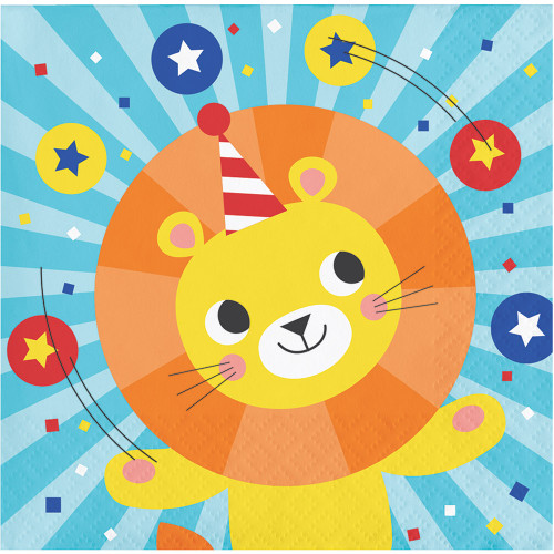 Circus Party 3-Ply Beverage Napkins