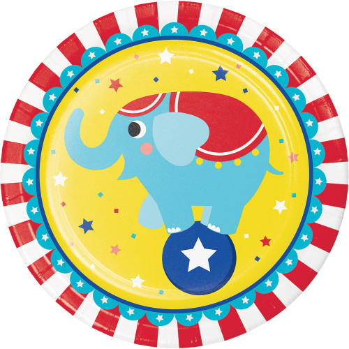 "Circus Party 9"" Dinner Plates"