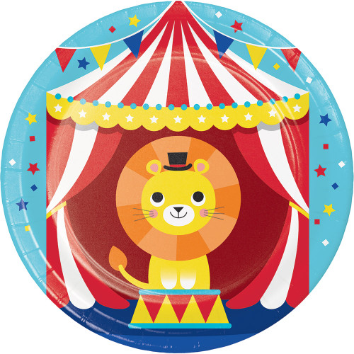 "Circus Party 7"" Lunch Plates"