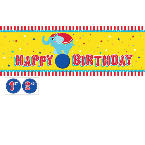 Circus Party Giant Party Banner with Stickers