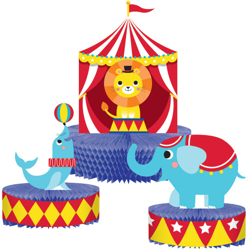 Circus Party Honeycomb Centerpiece