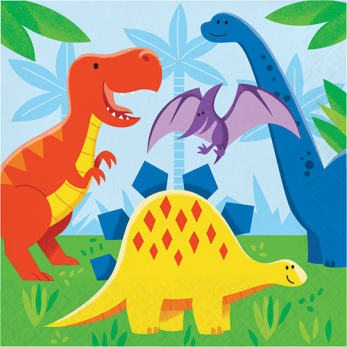 Dinosaur Friends 2-Ply Lunch Napkins