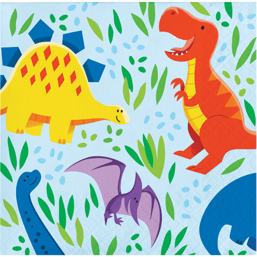 Dinosaur Friends 2-Ply Beverage Napkins
