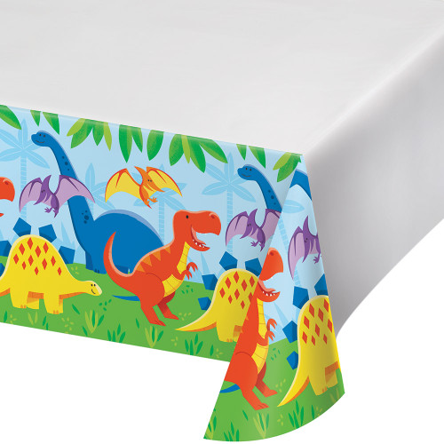 Dinosaur Friends Plastic Tablecover
