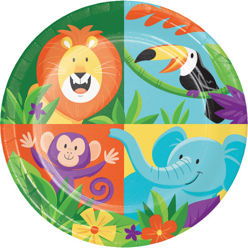"Jungle Safari 7"" Lunch Plates"