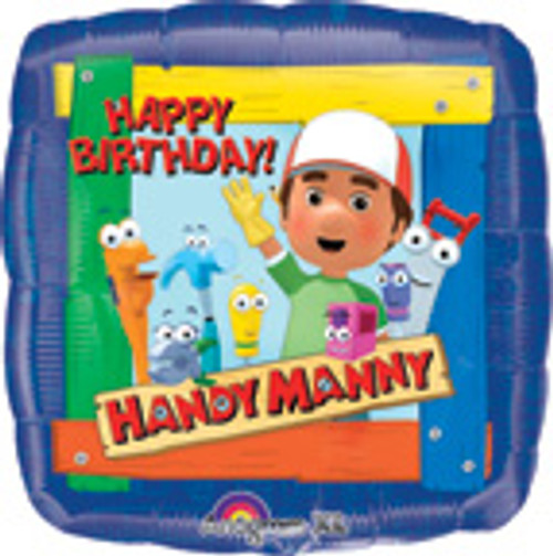 "18"" Handy Manny Birthday Square Balloon"