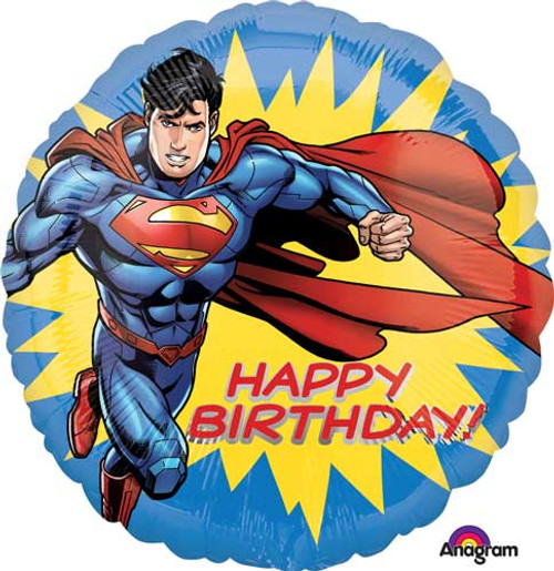"17"" Superman Birthday Balloon"