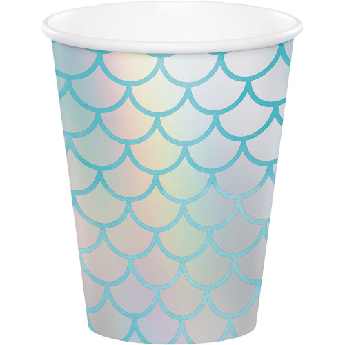 Mermaid Shine 9 oz Paper Cups