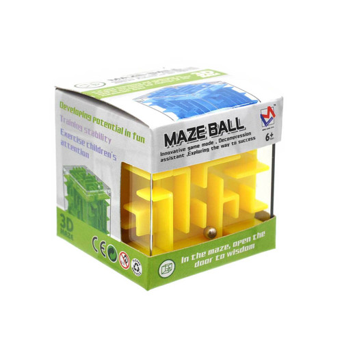 Mini Maze Puzzle Cube Assorted Color 1pcs