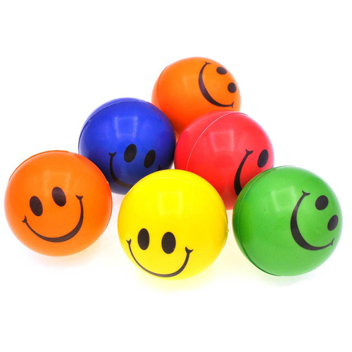 Smile Face Stress Ball Assorted Colors 1pcs