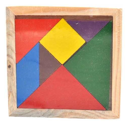 Wooden Tangram Puzzle 11 x 11cm